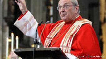 Cardinal colleague Joachim Meisner has often been slammed for his ultra-conservative views