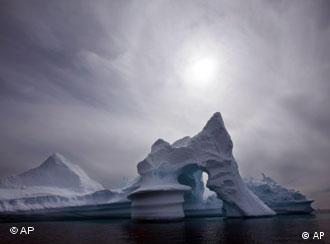 An iceberg melts off Ammassalik Island in Eastern Greenland