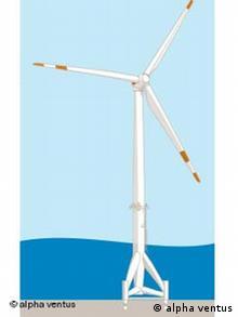 alpha ventus, der erste deutsche Offshore-Windpark.