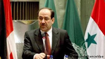 Irakischer Ministerpräsident Nouri Al-Maliki (Archivbild, 9.9.07, Quelle: AP)