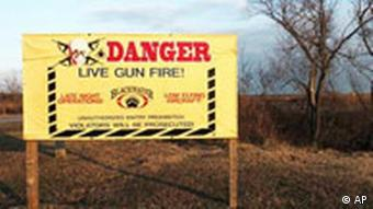 A sign at the entrance to Blackwater USA, in Moyock, North Carolina