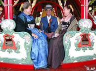 Гости праздника в традиционной баварской одежде