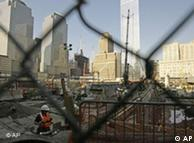 Constructions workers at Ground Zero in New York