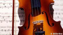 Geige mit Notenblatt