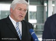 El ministro alemán de Exteriores, Frank-Walter Steinmeier, habla para la Deutsche Welle.