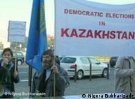 Демонстрация в Польше против председательства Казахстана в ОБСЕ
