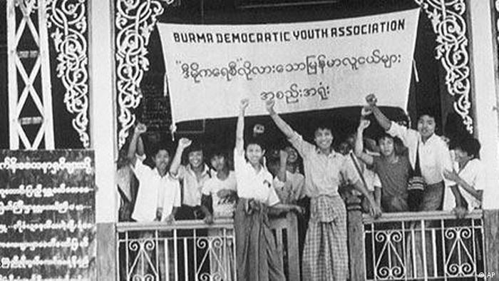 Demokratiebewegung 1988 in Myanmar, Birma, Burma (AP)