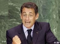 Nicolas Sarkozy giving a speech