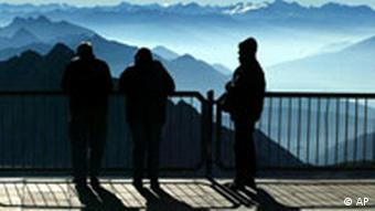 A viewing platform on the Zugspitze