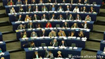 European parliament deputies vote during the plenary session of the European Parliament in Strasbourg