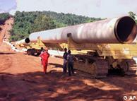 The French company Total came under pressure for the controversial gas pipeline from Myanmar to Thailand, 1996.