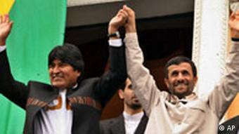 اوو مورالس رییس جمهور بولیوی و محمود احمدینژاد