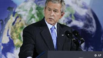 President Bush speaks during the Major Economies Meeting on Energy Security and Climate Change in 2007