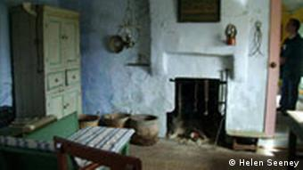 A restored house on the island of Gola in Ireland, showing how people used
