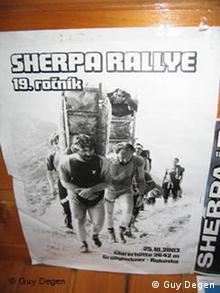 Affiche du rallye des Sherpas en Slovaquie.