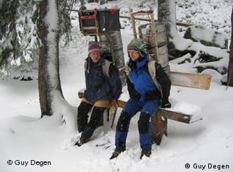 Viktor Beranek et Jarda Sima, sherpas dans les Tatra en Slovaquie.