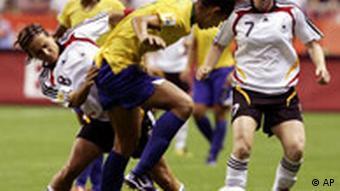 Frauen-Fußball-WM Finale Deutschland - Brasilien