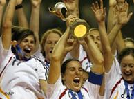 Celebrando el título mundial, en 2007.