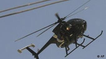 Hubschrauber der Sicherheitsfirma Blackwater in Irak