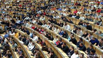 Hörsaal an der Karlsruher Uni
