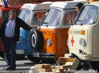 Old-fashioned Volkswagen buses