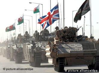 British tanks in Basra