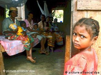 Ein unterernährtes Mädchen