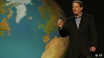 Al Gore in der Szene seines Filmes: 'An Inconvenient Truth', Foto: AP
