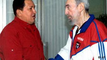 Kuba Venezuela Treffen Hugo Chavez mit Fidel Castro