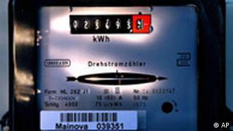 Ein Stromzähler einem Haushalt in Frankfurt am Main. (Foto: ap)