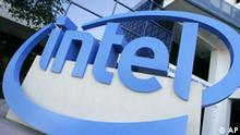 ** FILE ** The Intel logo is seen outside their Robert N. Noyce building in Santa Clara, Calif. in this July 16, 2007 file photo. Intel Corp. is expected to release quarterly earnings on Tuesday, Oct. 16, 2007. (AP Photo/Eric Risberg)