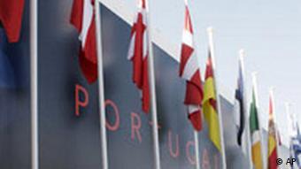 EU Portugal Gipfel in Lissabon Flaggen