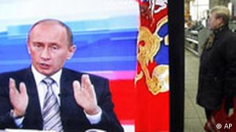 Putin in a question and answer session on television