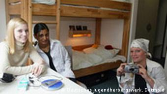 Typisches Jugendherbergszimmer, hier in Köln Deutz