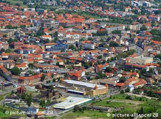 Aerial view of Bitterfeld