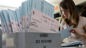 A box of ballots in Switzerland