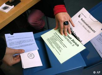 woman with ballot papers
