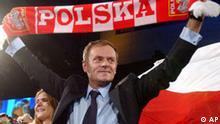 Polen Wahlen Donald Tusk in Warschau