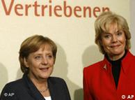 Angela Merkel, left, and Erika Steinbach