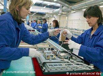 Women on a television assembly line