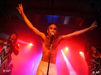Bobby Farrell's Boney M group performs in a hall at Kloten airport in Zurich, Switzerland on Saturday, May 14, 2005