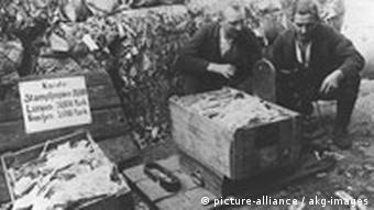 Hyperinflation in the early 1920s made German currency completely useless