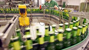 Mass produced beer