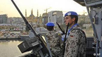 Libanon Deutschland Bundesmarine vor Beirut
