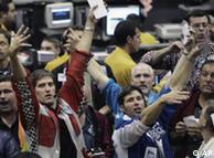 Las acciones bajaron en la bolsa de Frankfurt.