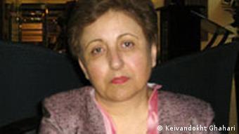 Shirin Ebadi, iranische Juristin und Menschenrechtsaktivistin. Sie erhielt 2003 den Friedensnobelpreis. Paris 27.10.2007 Hiermit erkläre ich mich damit einverstanden, daß die Rundfunkanstalt Deutsche