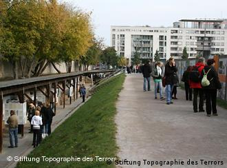 open air exhibit of Berlin's Topography of Terror on Nazi period