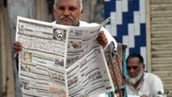 Pakistan Zeitung Ausnahmezustand Leser