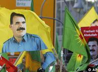 Manifestação em Berlim com imagem de Öcalan, em novembro de 2007