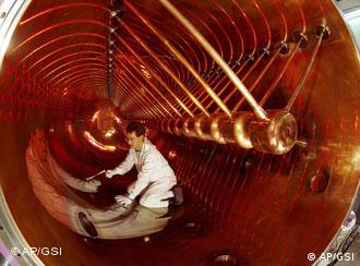 A researcher working in the Facility for Antiproton and Ion Research